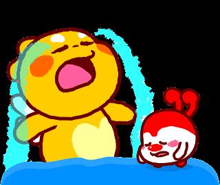 QooBee和奶豆大哭