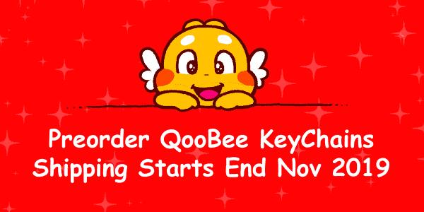 QooBee 毛绒钥匙链预售促销