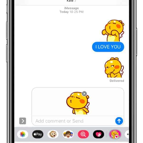 "QooBee iMessage Stickers ""Love"""