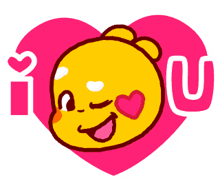 28 x Love Emoji Animated – QooBee Agapi