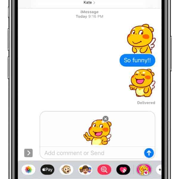 "QooBee iMessage Stickers ""Everyday"""