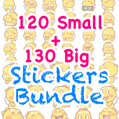 QooBee Agapi Digital Sticker Packs