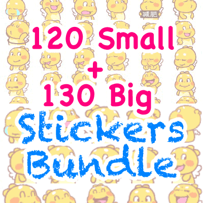 QooBee Agapi Stickers Bundle